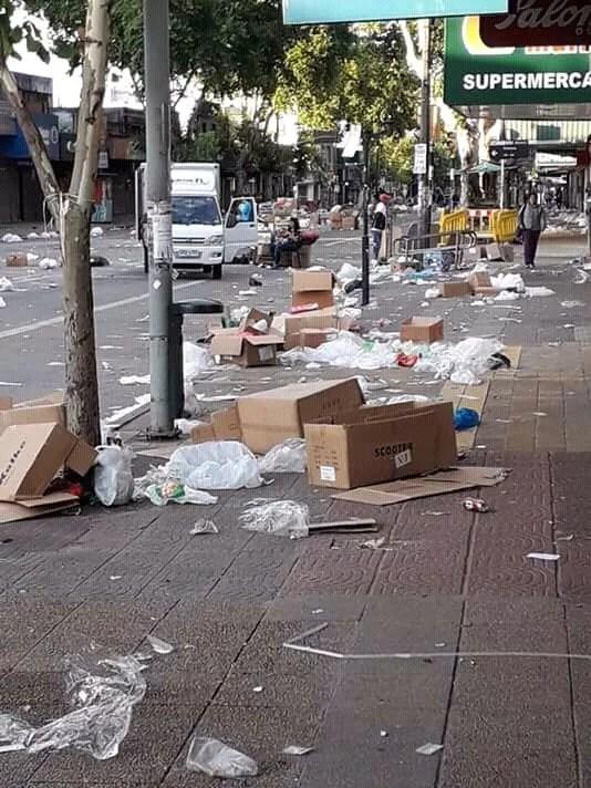 Basura en las calles de Montevideo