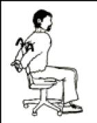 estirar hombros silla despierta y entrena