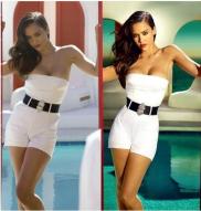 Jessica Alba y una diminuta cintura.