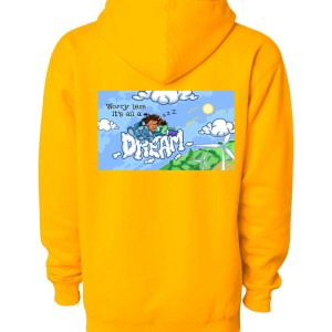 Worry Less Hoodie - Gold