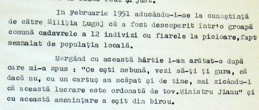 Declarație despre crimele de la Lugoj