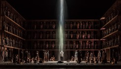 OEDIPE by Georges Enesco; Royal Opera House; Covent Garden; London, UK; 20 May 2016; Johan Reuter as Oedipe; Leo Hussain - Conductor; Àlex Ollé - Director; Valentina Carrasco - Associate Director; Alfons Flores - Set designer; Lluc Castells - Costume designer; Peter van Praet - Lighting designer; Photo: © ROH Photographer: CLIVE BARDA