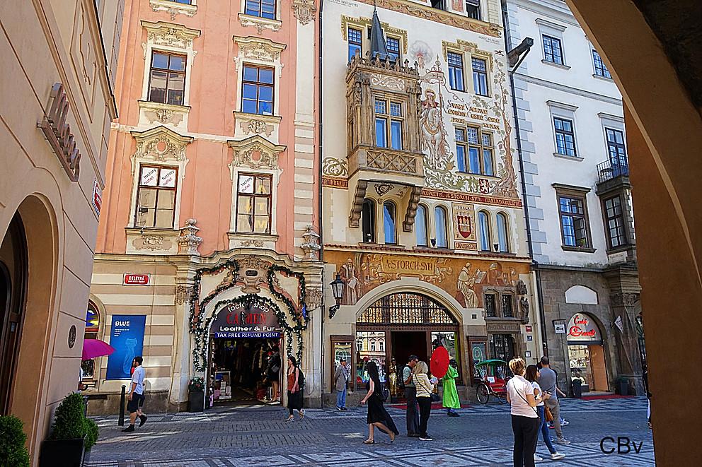 Rue Céletna détails Stare Mesto Prague