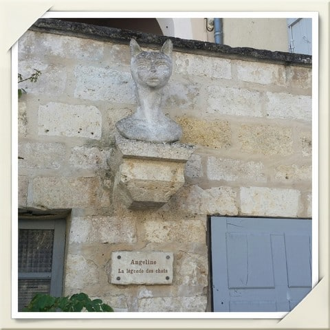La Romieu dans le Gers- Angeline et la légende des chats