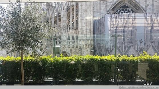 Milan terrasse de la Rinascente vue sur Duomo