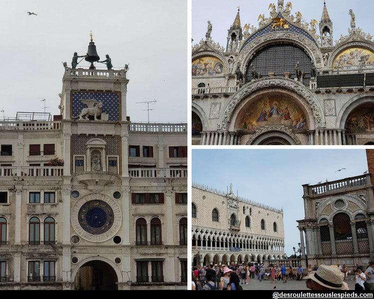 un jour à venise tour de l'horloge basilique saint marc palais des doges