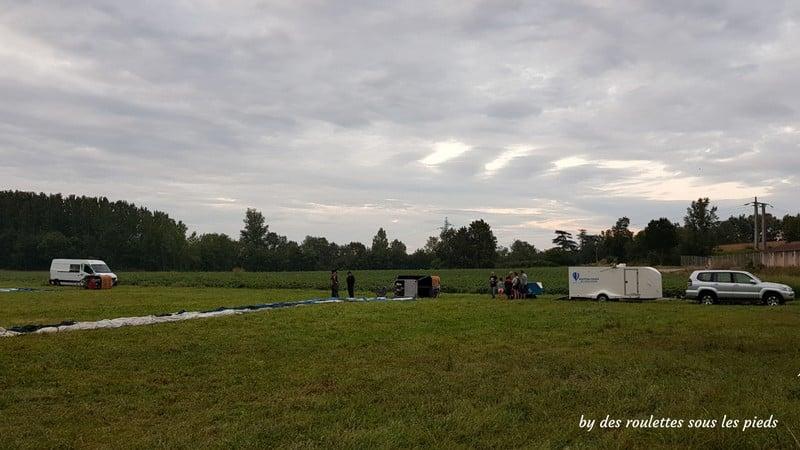 vol en montgolfière terrain d'envol