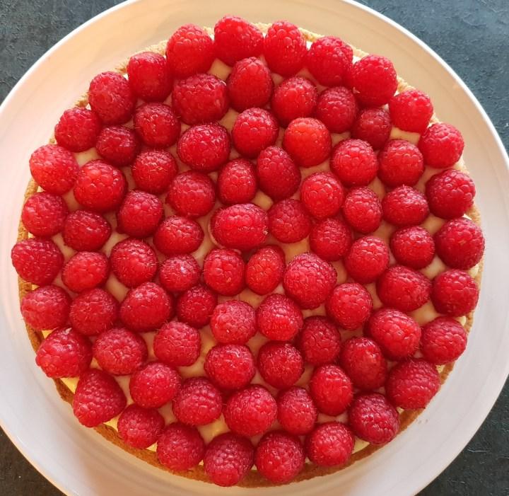 Recipe Recette pastry tarte raspberry framboises