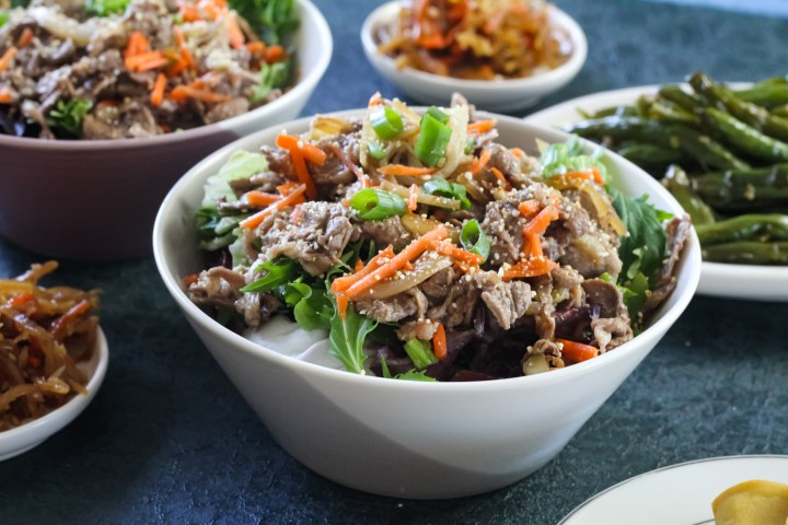 Beef Salad recipe with toasted rice