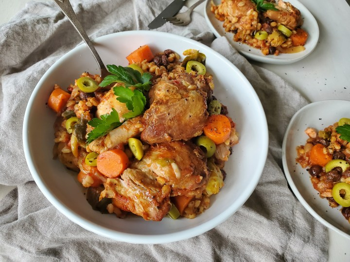 Chicken and Barley Stew, Easy slow cooker recipe