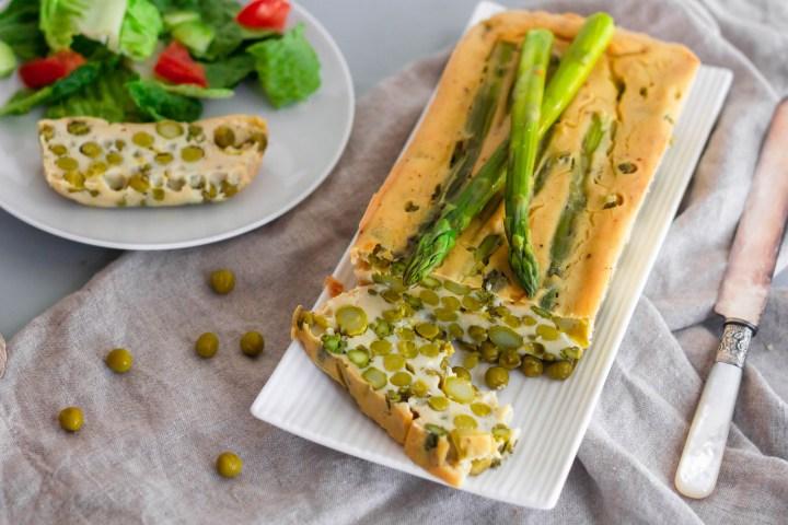 Pea and Asparagus Terrine, Vegan and GF Recipe