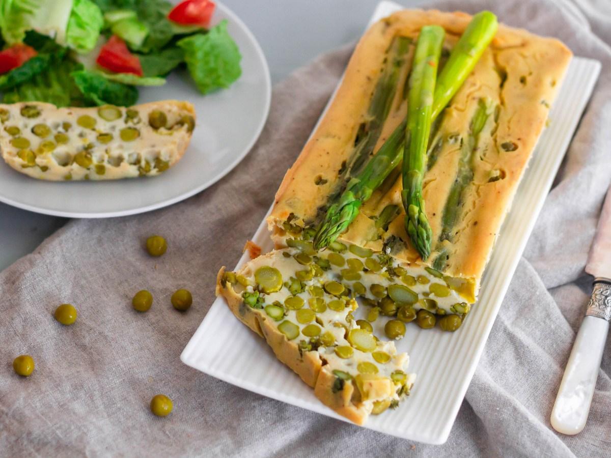 Pea asparagus terrine