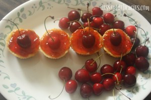 Cherry Cheese cake shorties