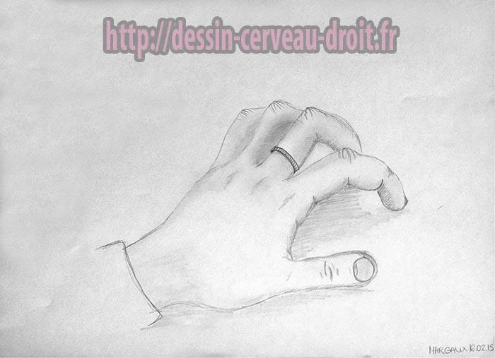 Main de Margaux, dessinée par elle. Lundi 16 février 2015.