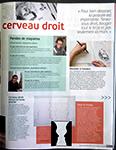 """Revue """"Pratique des arts"""", nº 121, 27 mars-29 mai 2015, p. 63, consacrée au stage """"Apprendre à dessiner avec le cerveau droit""""."""