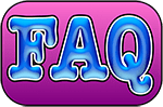 """Pictogramme encadré de """"FAQ"""", réalisé par Richard Martens."""