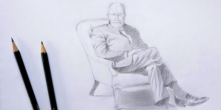 comment dessiner un personnage assis