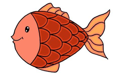 Dessiner un poisson: étape 5: coloriage en rouge