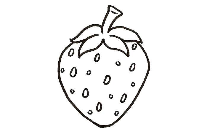 dessiner les petits grains d'une fraise