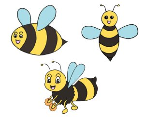 Read more about the article 3 abeilles mignonnes et super simples à dessiner