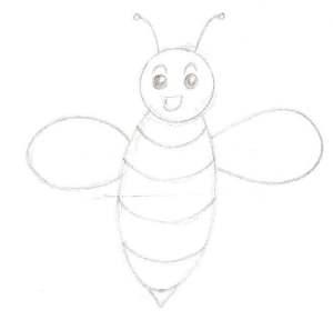 dessiner la tête de l'abeille
