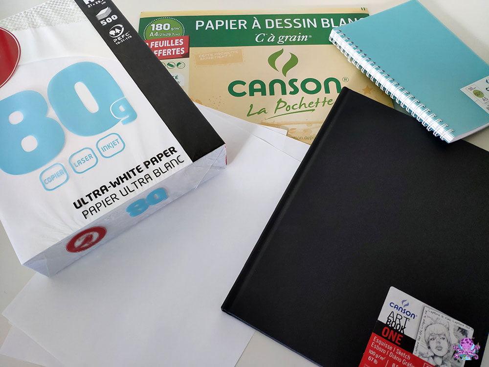 Le matériel de base pour commencer à dessiner : une feuille de papier ou un carnet de croquis