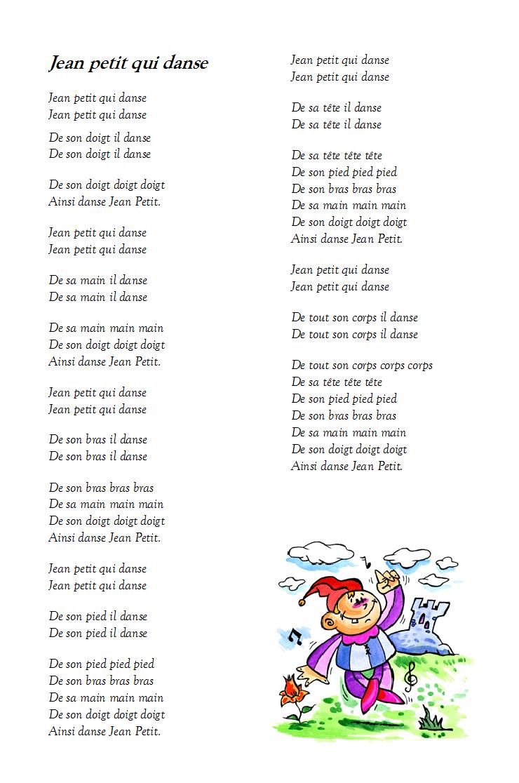 Jean Petit Qui Danse Paroles : petit, danse, paroles, Chanson, Petit, Danse, Paroles, Illustrées,
