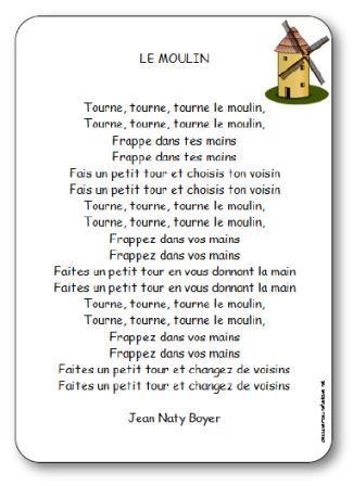 Tourne, Tourne, Petit Moulin : tourne,, petit, moulin, Chanson, Moulin, Boyer, Paroles, Illustrées, Moulin