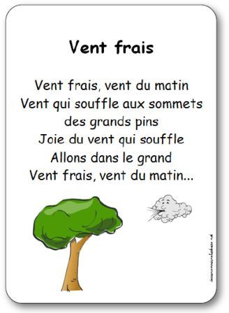 Vent Frais Vent Du Matin : frais, matin, Chanson, Frais,, Matin, Paroles, Illustrées, Frais