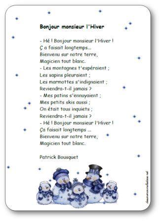 Bonjour Monsieur L Hiver Poésie : bonjour, monsieur, hiver, poésie, Poésie, Bonjour, Monsieur, L'hiver, Patrick, Bousquet, Illustrée, Imprimer