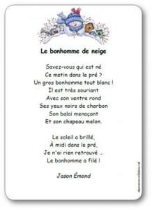 Poesie Le Bonhomme De Neige : poesie, bonhomme, neige, Poésie, Bonhomme, Neige, Jason, Emond, Illustrée, Imprimer