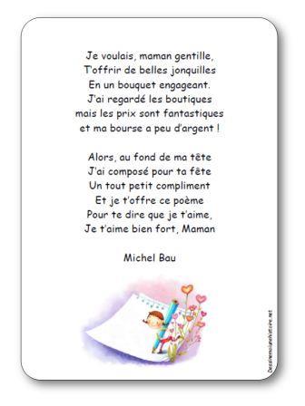 Maman Du Juste Prix : maman, juste, Poésie, Michel, Voulais, Maman, Gentille, Illustrée, Imprimer