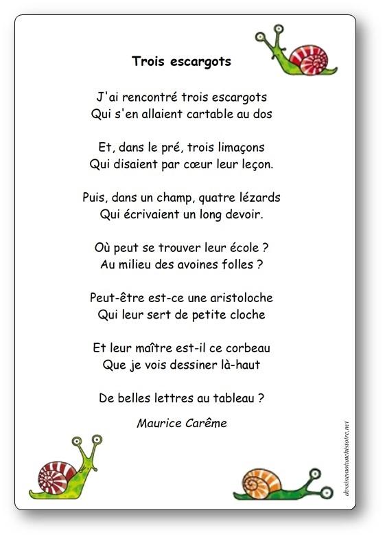 Je Suis Content Maurice Careme : content, maurice, careme, Poésie, Trois, Escargots, Maurice, Carême, Illustrée