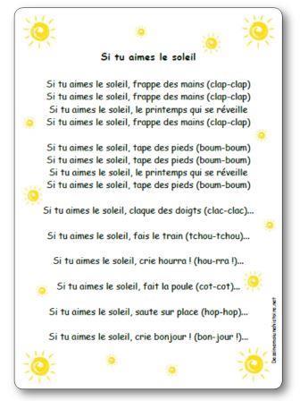 Coup De Soleil Chanson : soleil, chanson, Chanson, Aimes, Soleil, Paroles, Illustrées, Imprimer