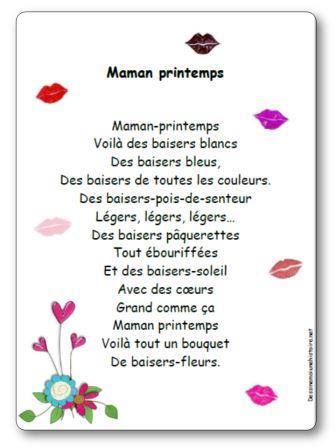 Posie Maman Printemps Illustre Imprimer