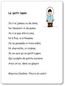 Je Suis Content Maurice Careme : content, maurice, careme, Poésie, Petit, Lapon, Maurice, Carême, Illustrée