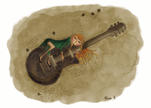 Dessinemoiunelicorne-Fee-Guitariste
