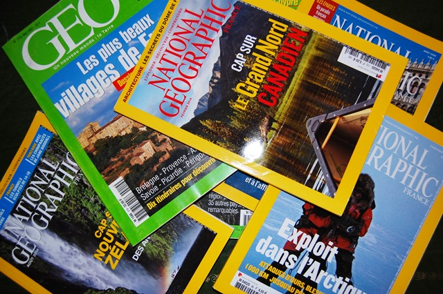 magazines geo et nationnal geographic