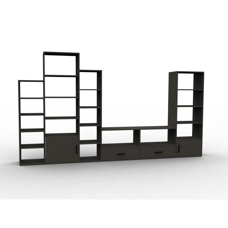 bibliotheque meuble tv rangements sur mesure