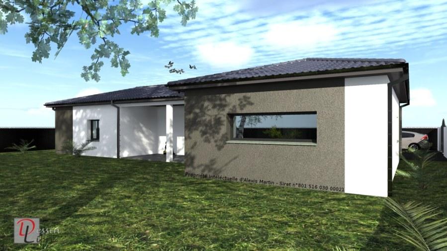 Maison Moderne Type L de Plain Pied de 120 m² avec Garage- Fonsorbes (31)