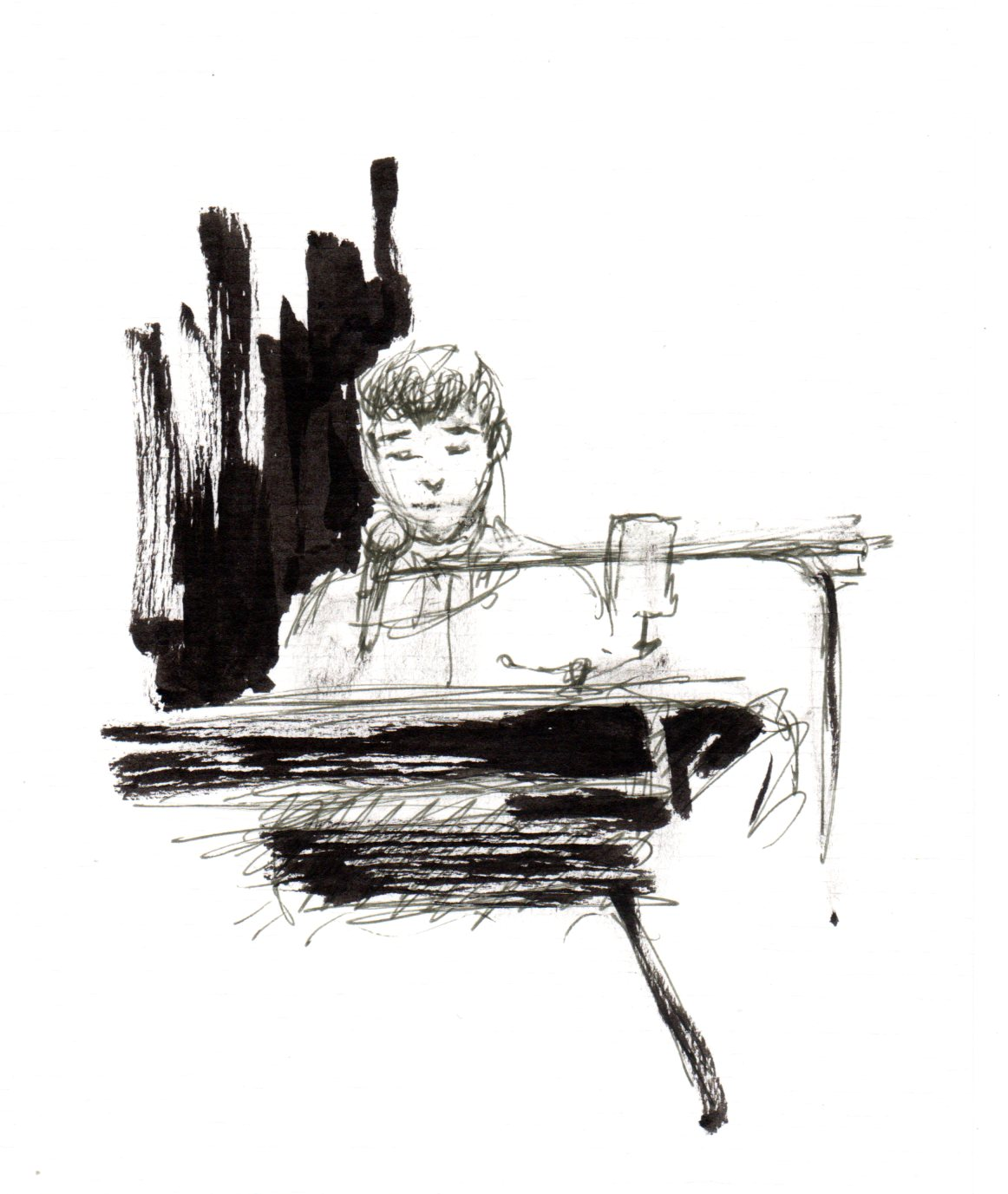 Chris Garneau au piano