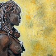 Dessin portrait la femme himba