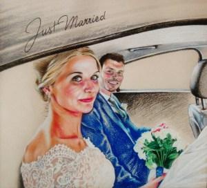Portrait d'après photo de mariage