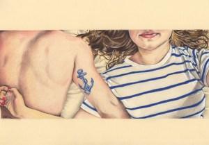 Portrait dessin de couple : composition d'après photos
