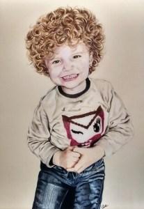 portrait-dessin-d-après-photo-enfant