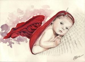 portrait-dessin-d-après-photo-bébé