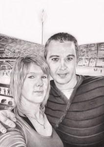 portrait-dessin-d-après-photo-couple-stade