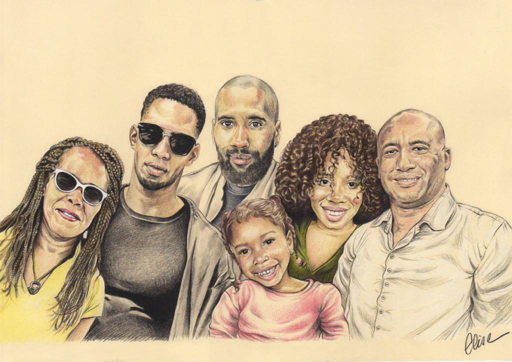 Commandez Votre Portrait Dessin De Famille D Apres Photo
