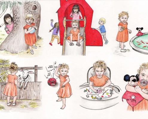 Illustrations pour un album souvenir en garderie - planche 2