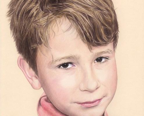 Dessin d'un jeune garçon en couleur
